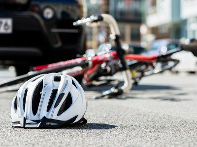 Close-up-of-a-bicycling-helmet