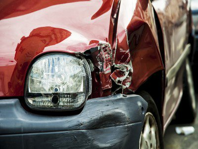 red-accident-car